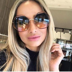 Chloe Geo Glasses: CE132S Pink and Blue Gradient
